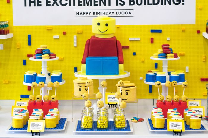 LEGO party theme. I have two younger brothers who would've gone crazy over this a few decades back...