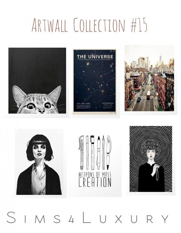 Sims4Luxury: Artwall Collection 15 • Sims 4 Downloads