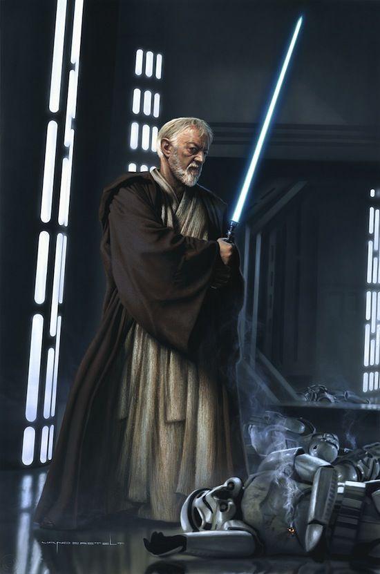 Obi-Wan Kenobi empalando troopers, maldito seas George Lucas por ser TAN POLITICAMENTE CORRECTO EN LOS FILMES - FUCK YOU LUCAS!! - Comment by Torby.