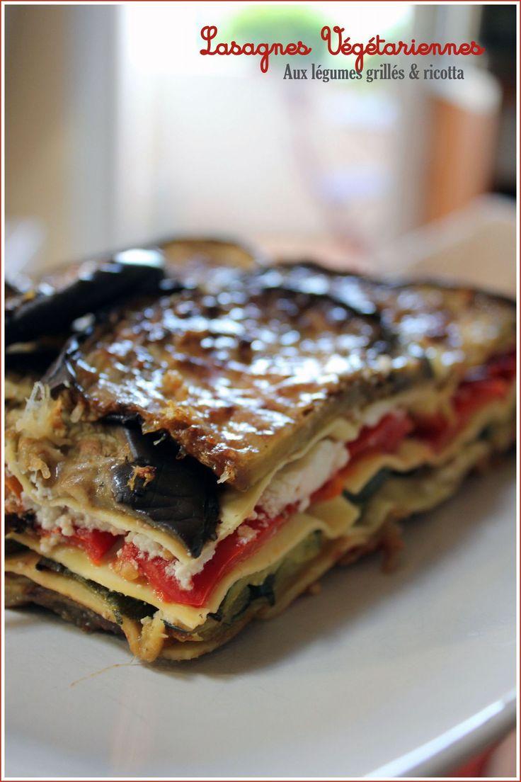 lasagnes vegetariennes légumes grillés et ricotta _ Vite fait bien fait pour un dèj' avec les coupines un peu au régime mais pas trop :)
