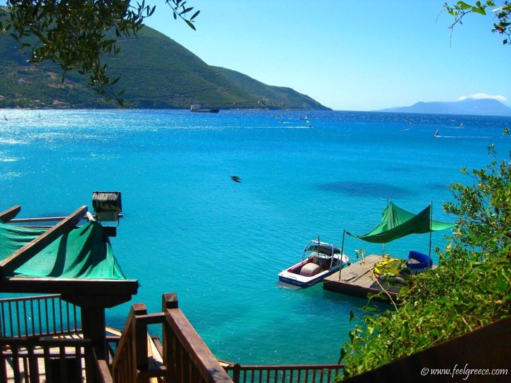 Vasiliki,one of the most famous villages on Lefkada island, popular place among windsurfers
