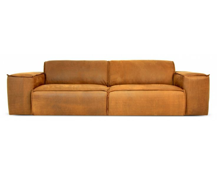 Marconi 3 Seater Sofa Natural Brown Leather