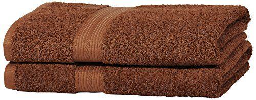 From 12.99 Amazonbasics Fade Resistant Towel Set 2 Bath - Acorn Brown 500gsm