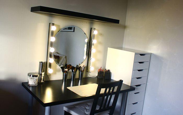 Sminkbord med hurts ALEX från Ikea till alla produkter - I really like this set up!