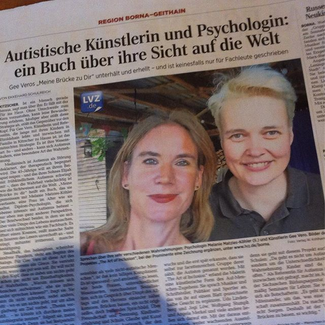 That #moment when you are in the #newspaper #lvz #leipzig #leipzigervolkszeitung #borna #geithain #autismus #autism #autor #author new #book neues #buch #outnow #geevero #kohlhammer #verlag available on #amazon und in #buchhandlung #feelinggood #today #local #fame 😂 www.bareface.jimdo.com