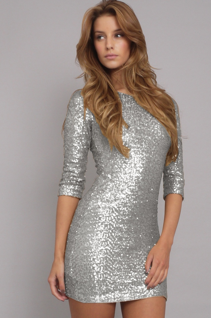 silver, glitter, bling, dress, new year Dresses, Silver