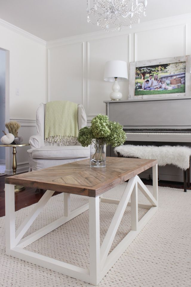 17 best images about furniture on pinterest modern for Modern farmhouse coffee table