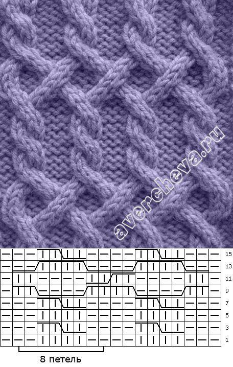 узор 7   каталог вязаных спицами узоров   вязание   Постила