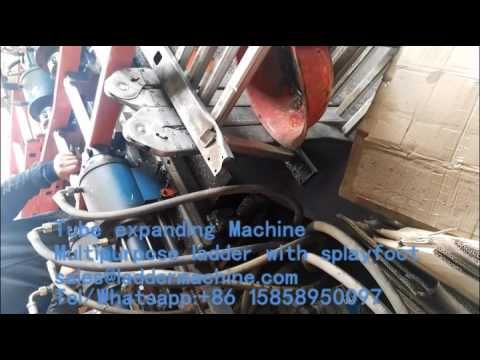 4 heads Tube expanding Machine for multi purpose ladder with Splayfoot