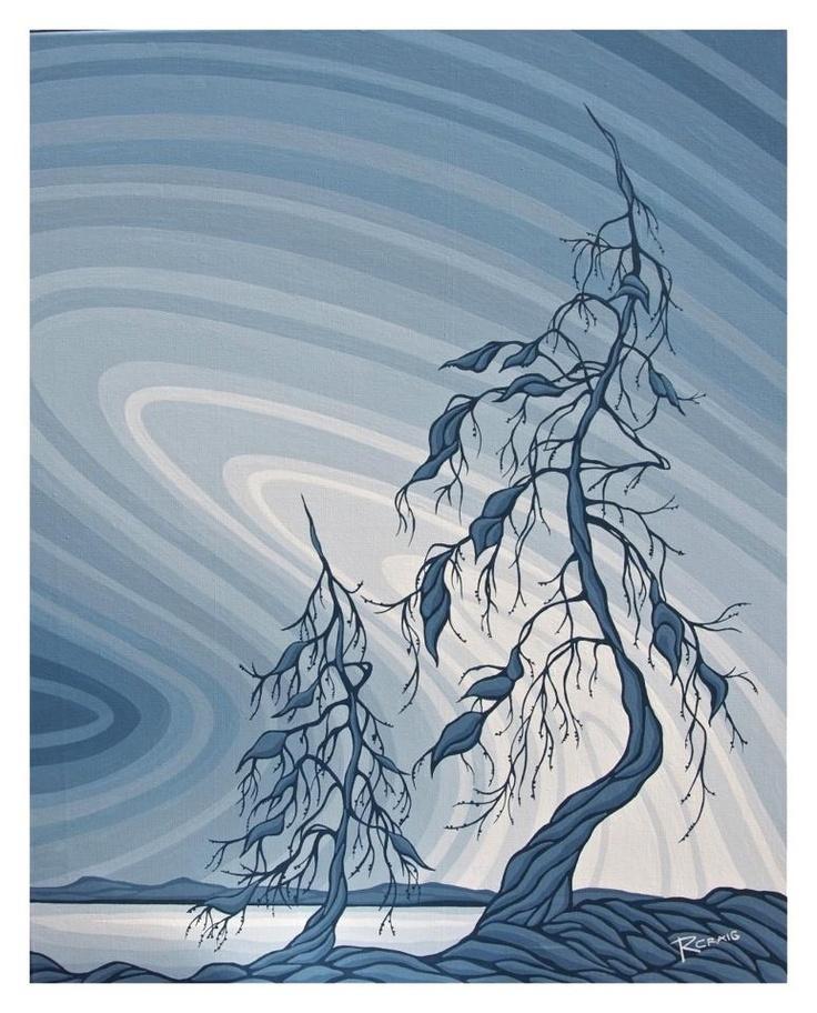 Canadian artist Robbie Craig - Northern Jack pines