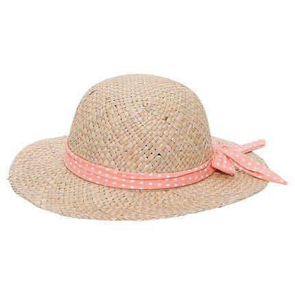 Ψάθινο καπέλο με πουά κορδέλα  Main