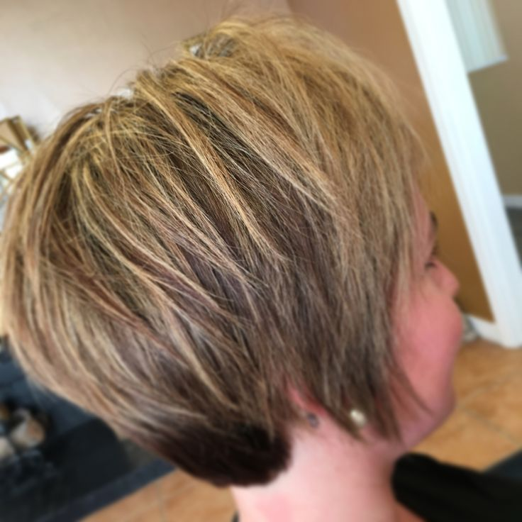 Dimensional highlight & lowlight pixie! When growing out your pixie, change up your color routine. Add a different low & add some bright highlights to the front!!! https://m.facebook.com/salontalkshannon/