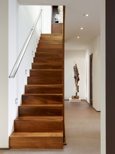 stair at entry contemporary staircase: Contemporary Home Design, Client Ideas, Downstairs Remodel, Deco Ideas, Interiors Design, English Architects, Contemporary Stairca, Stairs Ideas, Entry Contemporary