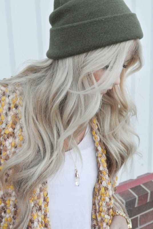 Hair : Even when she wears a woollen beanie over her long blonde hair, Madison can still look stylish and chic ....
