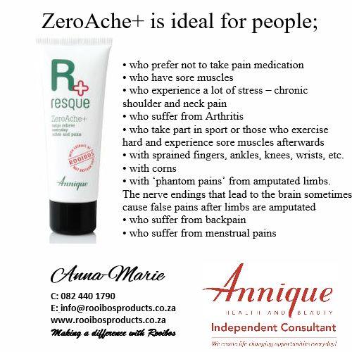 Annique Rooibos products ZeroAche