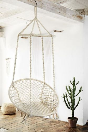 Hanging Swing Chair - Off White