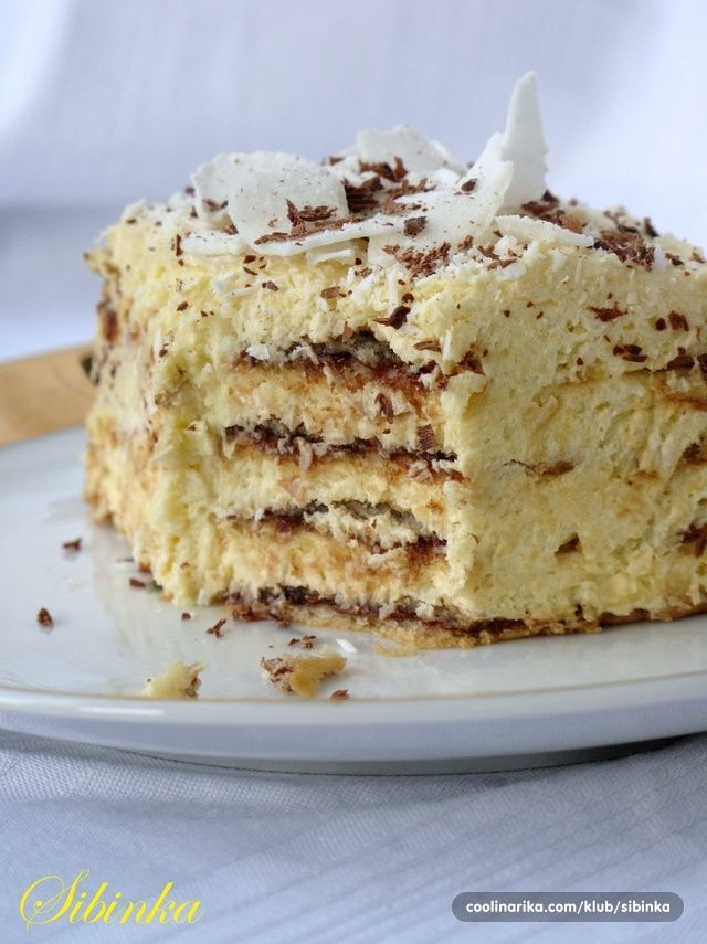 Kokos torta sa turskim keksom(rum...umesto likera od jaja)