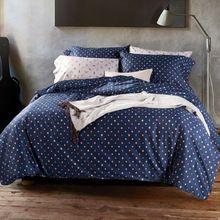Текстиль для дома 100% хлопок морской синий принт дизайнер европа лаконичный постельные принадлежности комплект 4 шт кровать лист / крышка king queen(China (Mainland))