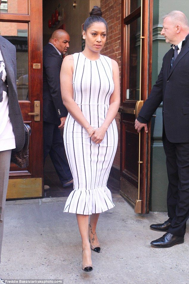 Moving on: La La Anthony was seen in New York City on Tuesday for the first time since the...