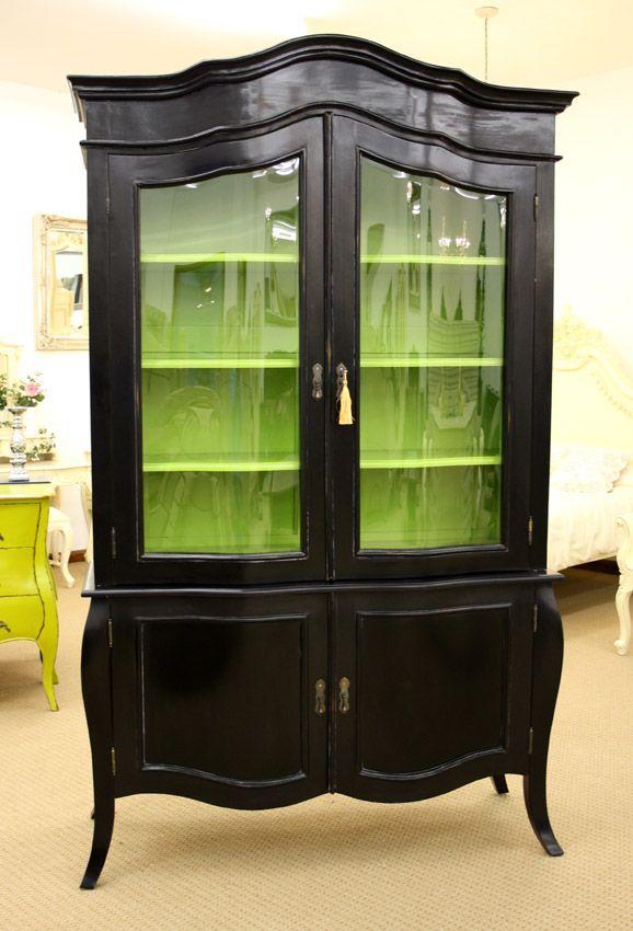 French Design Furniture Black Sideboard Display Cabinet | eBay