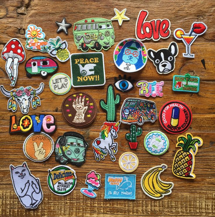 DIY Project 34 Pieces Boho Hippie Love Peace Travel Embroidered Bulks Patches