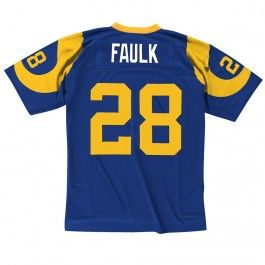 dde9d62856f Early 2000s Marshall Faulk St. Louis Rams Mitchell Ness Retro Replica Jersey  (Blue) ...