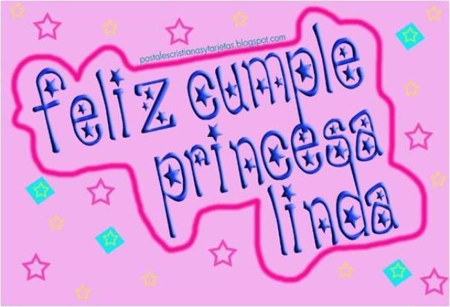 Postales Cristianas y Tarjetas: Postal Feliz Cumpleaños Princesa