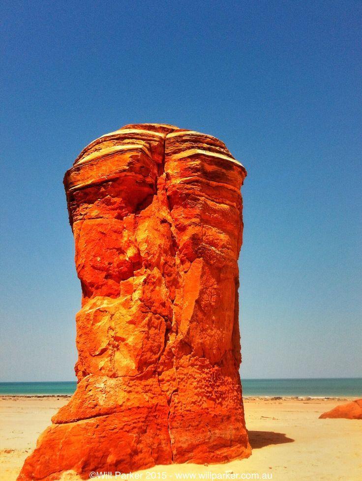 Pillars of Pindan, sandstone stacks dot the coast of Broome, Western Australia.