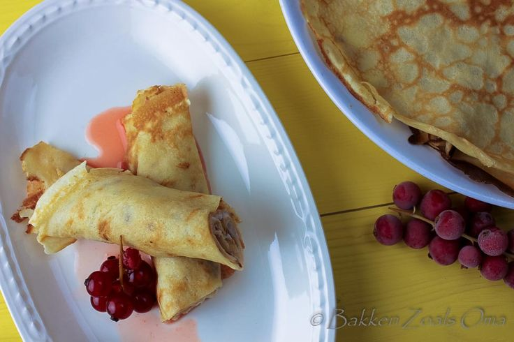 Oergerecht: Franse crêpes zijn flinterdunne pannenkoekjes, zoals deze in Frankrijk worden geserveerd. Lekker en prima als ontbijt of dessert.