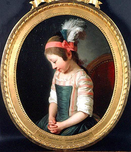 """Painted by Per Krafft in 1782, depicting his daughter Wilhelmina."""