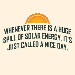 Solar energy spill