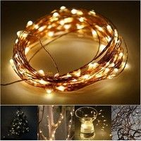 Wish | Chic 1/2/3/5/10M Copper Wire LED String Fairy Lights Lamp Xmas D cor