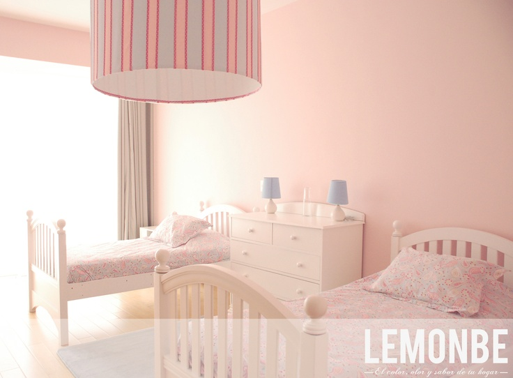www. lemonbe.mx  Soft Pink, and baby blue ideal for a  girl's room  Rosa pastel & baby blue ideal para cuarto de niñas