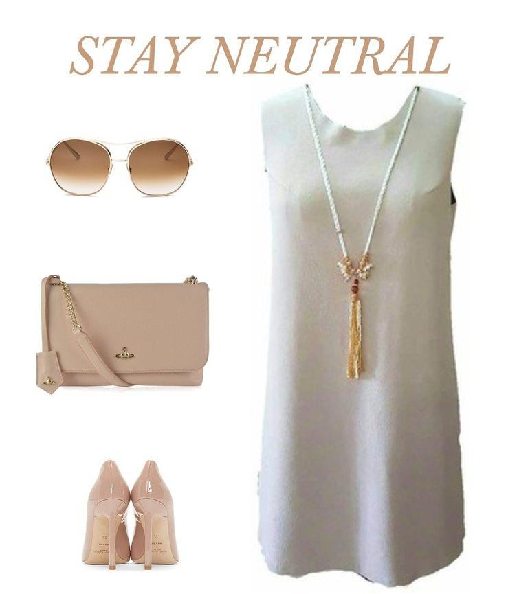 Add polish to your summer wardrobe with crisp neutrals #shopwithpalette #summerdressing #shortdress #neutral #getthatlook #instaclick #instafashion