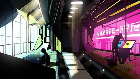 Cyberpunk interior
