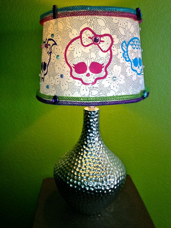 MONSTER HIGH Embellished Drum Lamp Shade  Custom  by GhoulsRule
