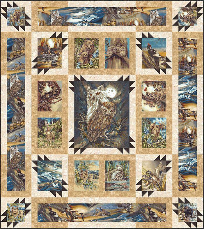 Wildlife Quilt Panel Kits