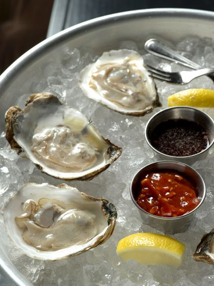 Oysters on the Half Shell #seafood #Oysters #molluscs