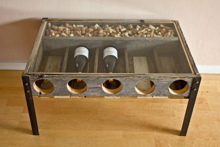 Wine Storage Coffee Table Made From Reclaimed Fence Boards And Raw Steel  Angle Irons. | Meisch Made | Pinterest | Fence Boards, Wine Storage And Iron