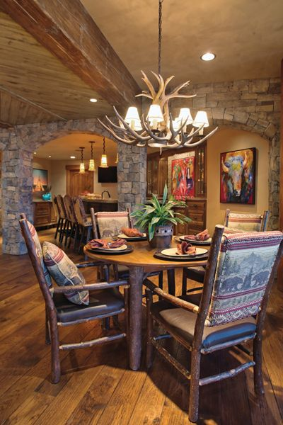 Nancy And Lane Walker Wanted Their Basement To Be An Extension Of Their  Rusticu2026 Native American DecorNative ...