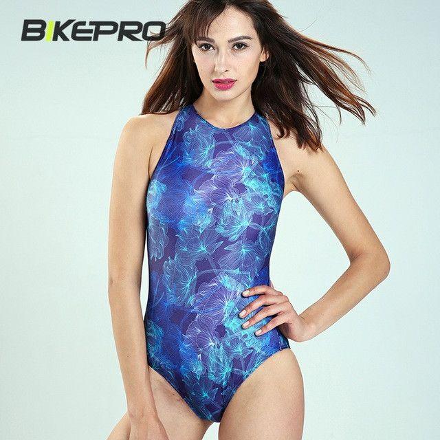 High Waist Backless Hollow Blue One Piece Swimsuit Swiming Surfing Bathing Spring Beach Sea Side Bikini Suit