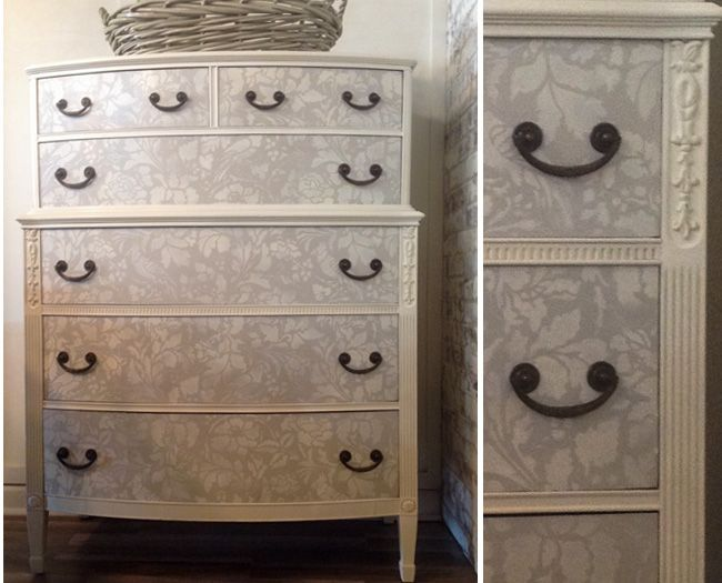 Chalk Paint® Decorative Paint   Dresser Painted With Old White On The  Outside. Drawers