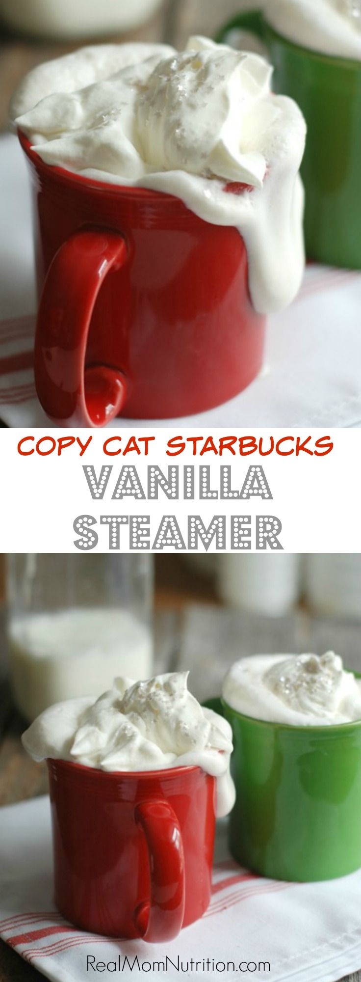 Copy Cat Starbucks Vanilla Steamer--rich and creamy (and great for kids too!)