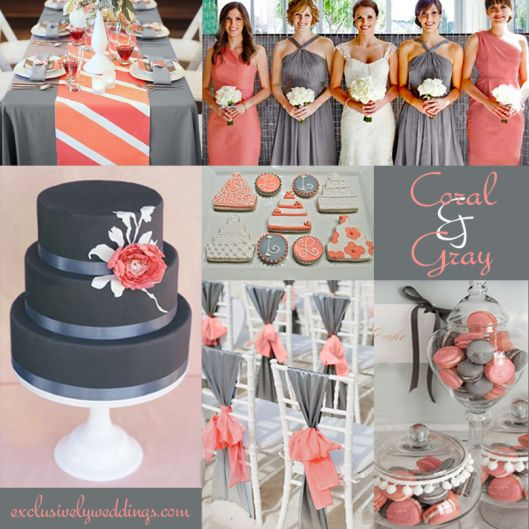 "Coral and Gray Wedding | ""Coral Wedding Color Combination Options You Don't Want to Overlook"" 