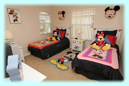 Mickey & Minnie Bedroom - Good for if you have a boy and girl sharing. :)