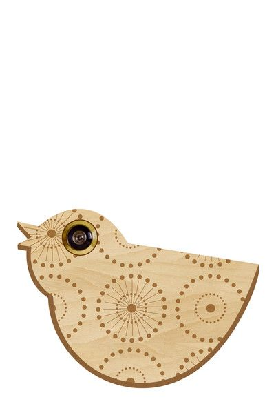 Oeilleton de porte Oiseau bois naturel Cocoboheme sur MonShowroom.com