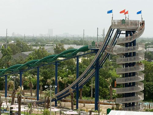 The Cliffhanger - Galveston Texas - This is on my bucket list because there's no elevator to the top X_X
