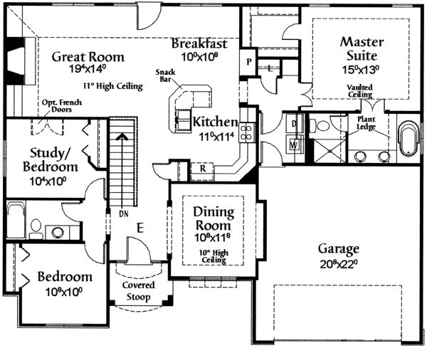 11 best house plans 1500 2000 sq ft images on pinterest for 2000 sq ft house plans with basement