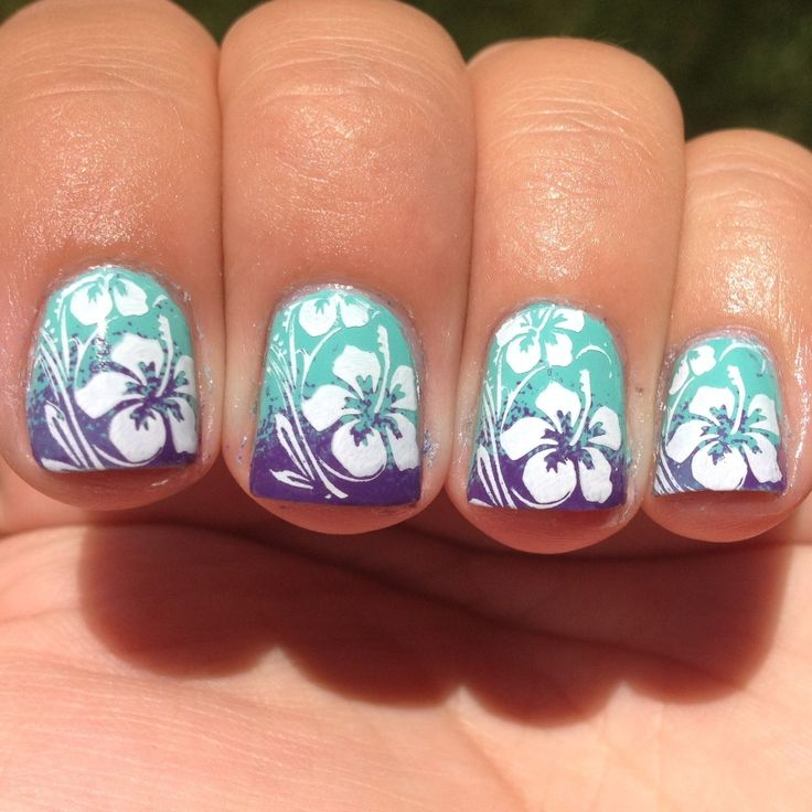 tropical nail art | Top-15-Summer-Nail-Art-Ideas_15. Hawaiian  FlowersHibiscus ... - Best 20+ Hibiscus Nail Art Ideas On Pinterest Tropical Flower
