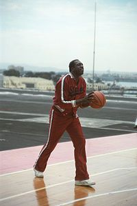 """Meadow Lemon III (April 25, 1932 – December 27, 2015), publicly known as """"Meadowlark"""" Lemon, was an American basketball player, actor, and minister. For 22 years, Lemon was known as the """"Clown Prince"""" of the touring Harlem Globetrotters basketball team. He played in more than 16,000 games for the Globetrotters and was a 2003 inductee of the Naismith Memorial Basketball Hall of Fame. Lemon died on December 27, 2015, at the age of 83."""